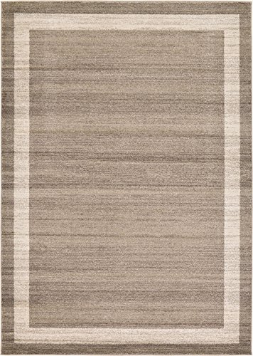 Over-dyed Modern Vintage Rugs Light Brown 7' x 10' FT Palma Collection Area Rug - Perfect for any Place