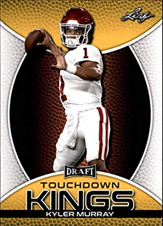 buy online 672be c5a86 Amazon.com: 2019 Leaf Draft Kyler Murray Gold #SP-KM3 Kyler ...