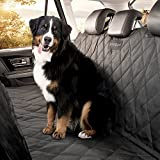 Perfect Pet Seat Cover - Dog and Cat Car Seat Cover Hammock - Waterproof and Machine Washable - Non-Slip Quilted Technology to Protect Seats in Cars - Trucks - SUVs and Vans From Stains and Hair - Black