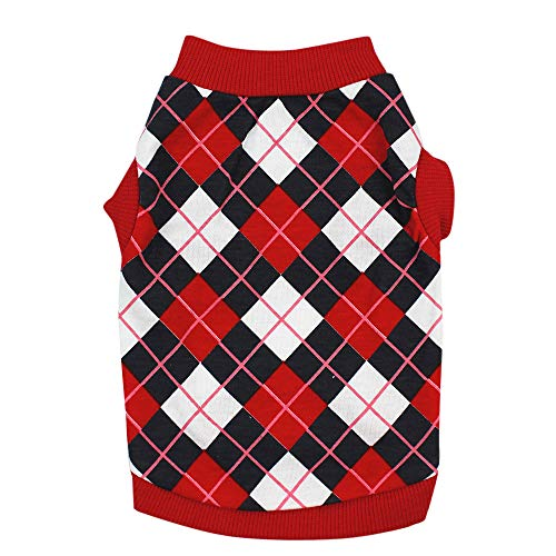 Duseedik Dog Classic Clothing, Dog Warm Outfit Cotton Vest Puppy Costume for Small Dog
