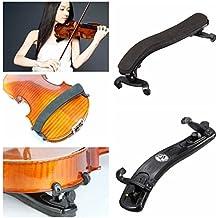 Adjustable Violin Shoulder Rest Plastic EVA Padded for 3/4 4/4 Size Violin Universal Type Violin Parts (Black)