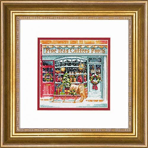 Dimensions Gold  Collection Small Counted Cross Stitch Kit, 'Coffee Shoppe', 18 Count White Aida Cloth, 6'' x ()