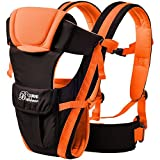 2016 Updated 0-30 Months Multifunction Front Facing Baby Carrier Infant Sling Backpack Pouch Wrap Baby Kangaroo With Waist Belt (Orange Color)