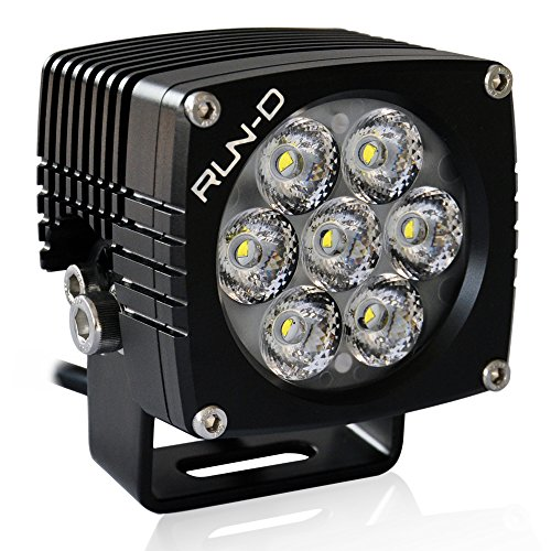 RUN-D 35W Spot LED Driving Lights 3 inch Cube Off Road Work Lights with CREE LED (1 pc) (Spot-runde)