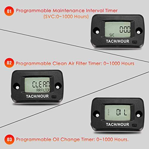 SEARON Tach Hour Meter Tachometer 2 & 4 Stroke Small Engine