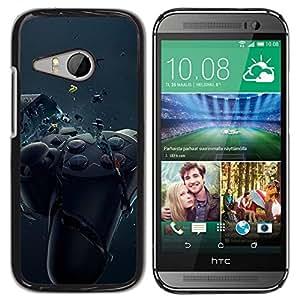 // PHONE CASE GIFT // Duro Estuche protector PC Cáscara Plástico Carcasa Funda Hard Protective Case for HTC ONE MINI 2 / M8 MINI / Controlador de juego de Smash /