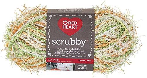 - RED HEART Scrubby Yarn, Citrus (E833.0984)