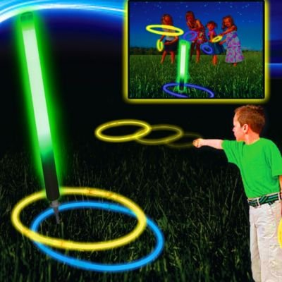 Glow Ring Toss Game, Nighttime Active Camp Games, Camp Games Kids And Adults Love