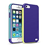 iPhone SE Case, OFTEN iPhone 5/5S/SE Case Shock Absorbing Hybrid Best Impact Defender Rugged Slim Protective Cover Shell w/ Grip Cute Mixed Color Design(Purple/Yellow/Blue)