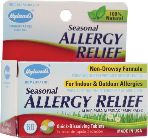 Hyland's Seasonal Allergy Relief -- 60 Tablets - 2pc (Best Seasonal Allergy Relief)