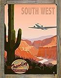 Traveling Southwest Airways Metal Print on Reclaimed Barn Wood by Mike Rangner (18'' x 24'')