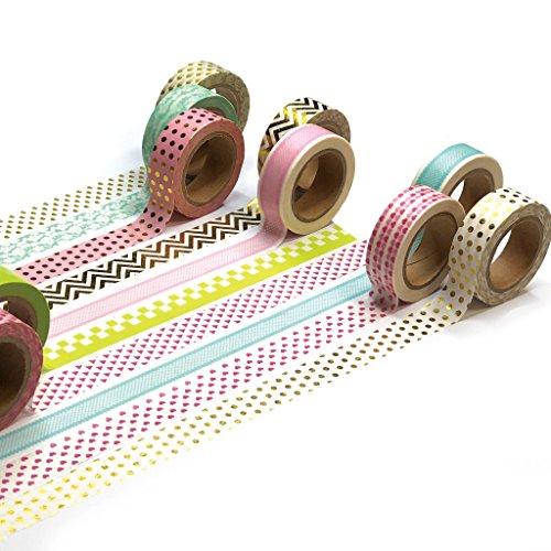 Ultra Premium Washi Tape - Perfect Multi Purpose Colored Masking Tape For Walls, Arts and Crafts, DIY, Scrapbook (Pastel ()