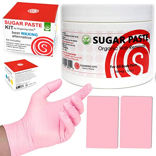 Sugaring Hair Removal Kit by Sugaring NYC - Best Waxing Alternative 100% Certified Organic