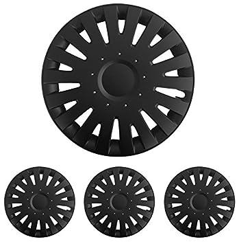 Diseño alfombrillas de Deluxe 898888889 Tapacubos – Tapacubos Tapacubos 5 unidades en Set tichalam Negro