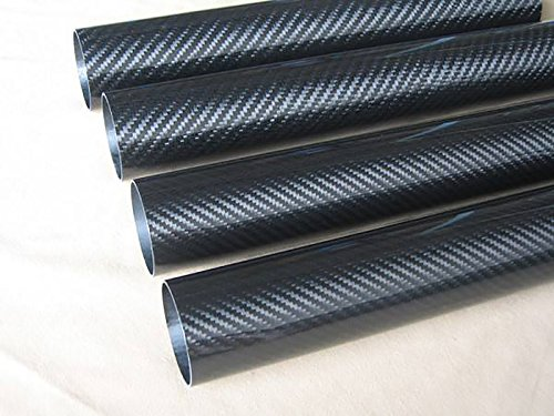 Abester Roll Wrapped Carbon Fiber Wing Tube ID 38mm x OD 40mm x 500mm 3K Glossy Surface (1 ()