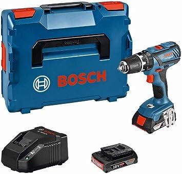 Bosch Professional GSB 18-2-LI Plus Professional, voltaje de batería 18V, ajuste de par 20 +1 (1...