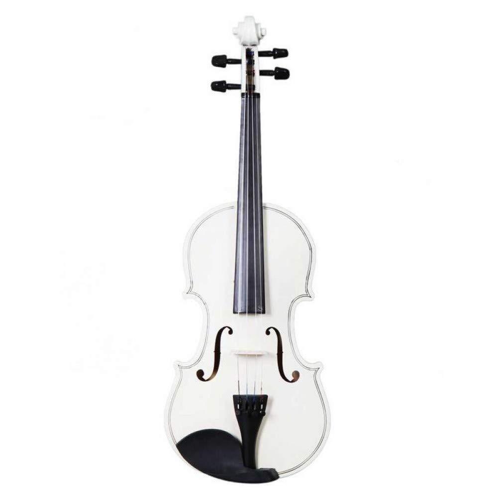 ZGHNAK Violín acústico blanco para violín acústico de 4/4 ...