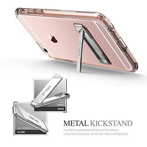Obliq OBIP6SP-NAKED05 Naked Shield Fall mit Standplatz für Apple iPhone 6 Plus/6S Plus rosa/gold