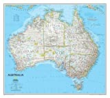 National Geographic: Australia Classic Wall Map - Laminated (30.25 x 27 inches) (National Geographic Reference Map)