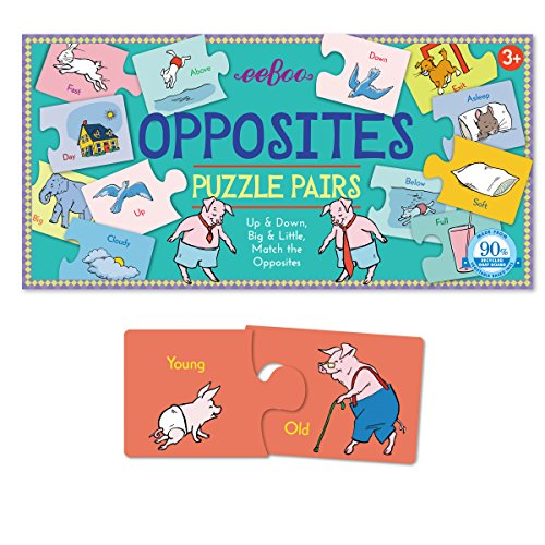 eeBoo Opposites Puzzle Pairs Matching Game