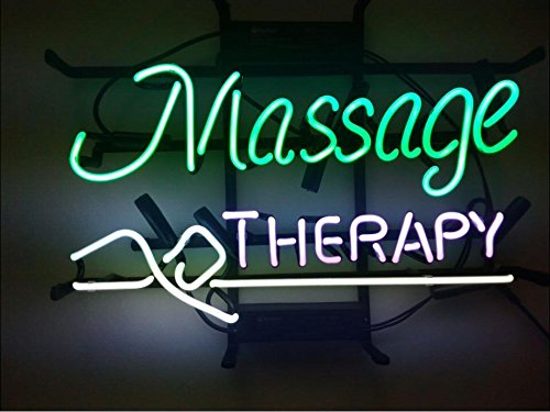 Mirsne Massage Therapy 17'' by 14'' Neon signs, glass tube neon open sign, custom made neon beer sign, unique neon sign art, supplied for a wide range of personal uses.
