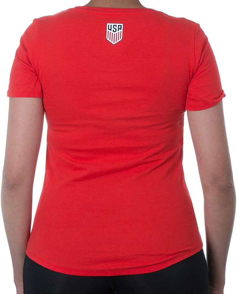 Star Logo Red Medium Soccer Womens National Team Womens OTS Rival V-Neck Tee U.S