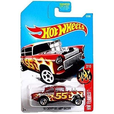 Hot Wheels 2020 HW Flames '55 Chevy Bel Air Gasser 12/365, Maroon: Toys & Games