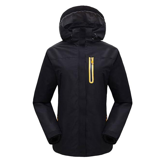 ZKOO Soft Shell Chaqueta para Mujeres Hombres Al Aire Libre Impermeable Resistente al Viento Chaqueta de Nieve Deportes Senderismo Capa Abrigo: Amazon.es: ...