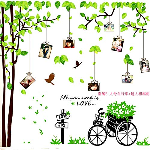 Wall Stickers Classrooms in Primary and Secondary Schools are Decorated with Wall-Mounted Photographs and Tree-Wall-Mounted Green-Leaf Memory Trees for School Cultural Construction Supplies ()