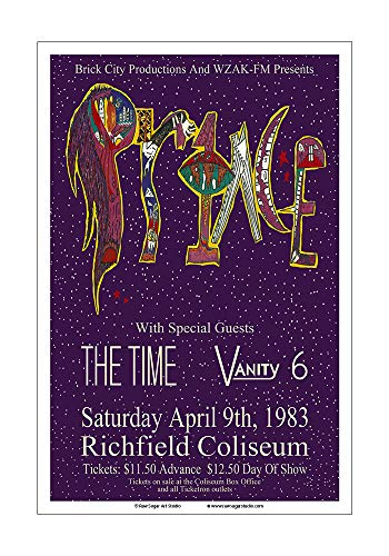 Raw Sugar Art Studio Prince 1983 Cleveland Concert Poster