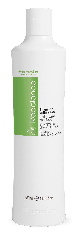 Fanola Champú REBALANCE Antigrasa 1000mL 1L - Elimina grasa cabello - Purifica - PROFESIONAL