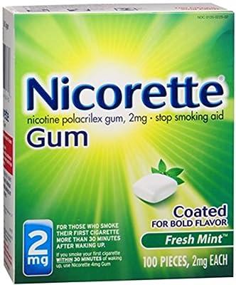 Nicorette 2 mg Fresh Mint 100 Each