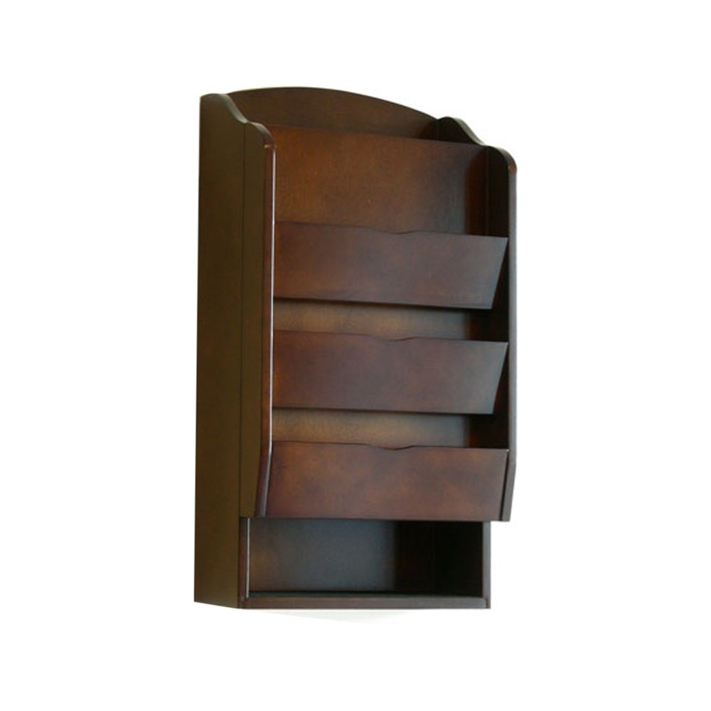 Openbox door entry organizer with mail sorter in mahogany for Door organizer