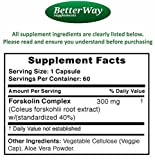 PURE FORSKOLIN EXTRACT FOR WEIGHT LOSS - Potent 40% Formula - Best Forskolin Diet Pills for Men and Women - Burn Body Fat with Coleus Forskohlii Root Extract Supplement in Vegetarian Capsules
