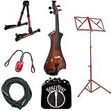 Sunburst Meisel Electric Violin Deluxe w/Accessories