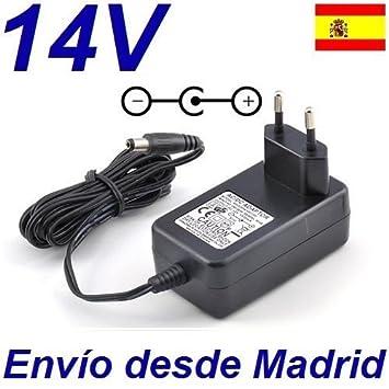 Cargador Corriente 14V Reemplazo Maquina Lanzapelotas SPINSHOT PRO TENIS/ PADEL Modelo MLSPHP Recambio Replacement: Amazon.es: Electrónica