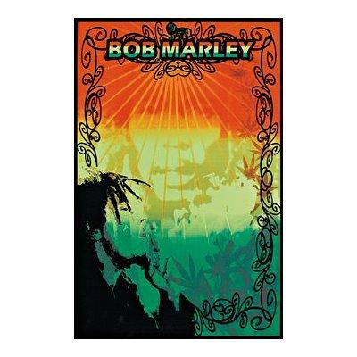 Bob Marley Blacklight Poster Mellow Rasta 1871 A-24Q Blacklight Print