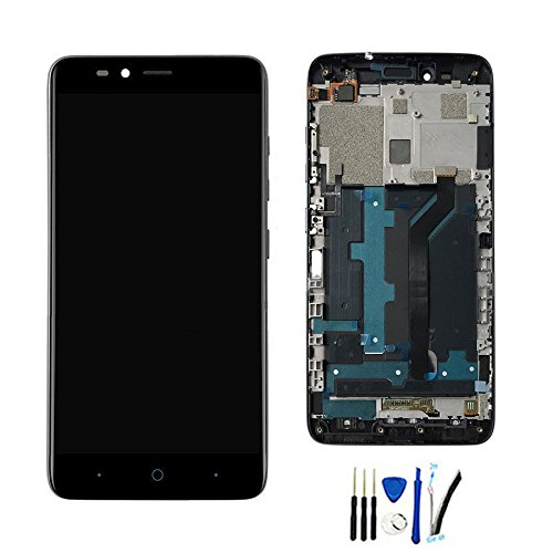 Full LCD Display Screen Assembly for ZTE Max Duo Z963 Z963VL Z962BL / Imperial MAX Z963U with digitizer Touch replacement Black With frame
