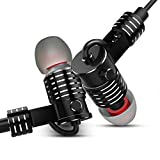 Earphones with Mic Wired Dual Drivers Heavy Bass Metal In-ear Earbuds Balanced Armature Dynamic Hybrid TIMMKOO Headphones(Black)