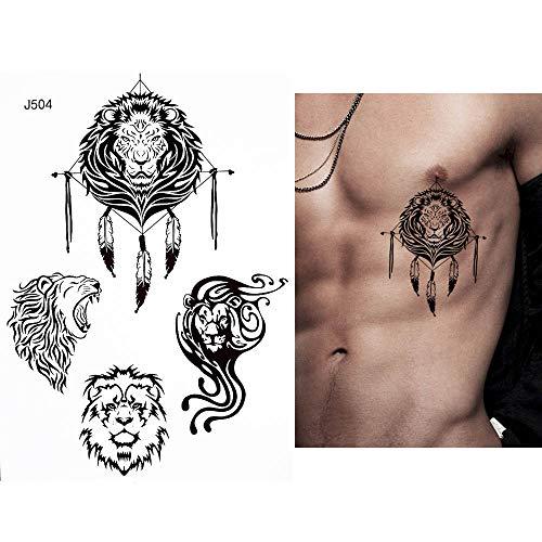 adgkitb 3pcs Totem Tatuaje Temporal a Prueba de Agua Wolf Moon ...