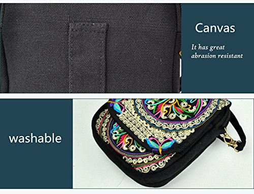 Pouch Women Mini Handbag Handmade Embroidery Coin Multicolor Purse Crossbody Vintage Cellphone Bag Small FBB1x0U