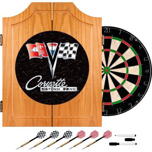 Chevrolet Corvette Wood Dart Cabinet Set by Trademark Gameroom