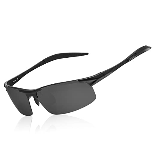 b8e31a3ec4 WISH CLUB Sunglasses for Men Men s Sports Style Polarized Sunglasses for  Cycling Running Fishing Driving Golf