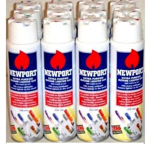 Newport Zero Extra Purified Butane Gas ((12 cans))