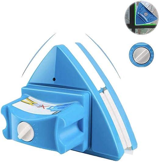 MILECN Limpiacristales de Doble Cara, Limpiador de Vidrio Ajustable de 5 Archivos, Herramientas de Limpieza magnética, para Ventanas de Gran Altura, Espesor 0.15