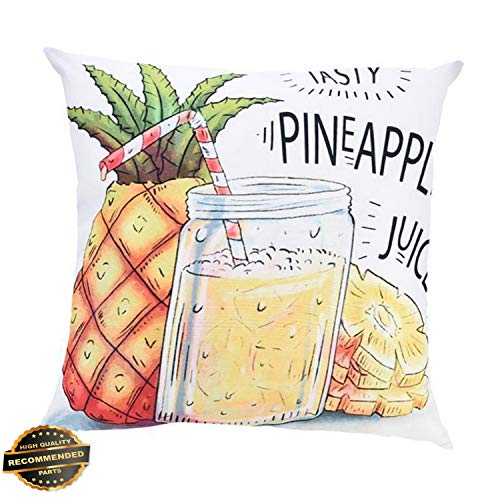 Cotton Organic Tee Fish - Kaputar Summer Time Thrown Pillow Case Print Cotton Sofa Car Cushion Cover Home Decor Fish#1 | Style PLWCS-182012274