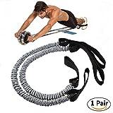 Slimerence Pull Ropes for Ab Roller Wheel, Resistance Bands for Ab Roller Wheel Waist Abdominal Slimming Fitness Equipment, 2PCs