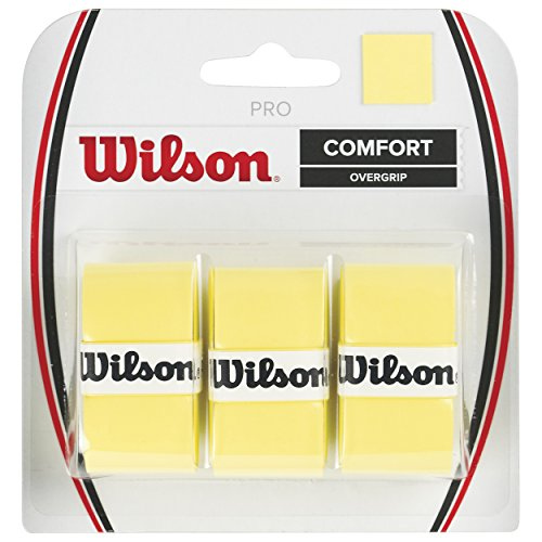 Wilson Tennis Racquet Pro Over Grip, Yellow, Pack of 3