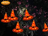 AVIDE Halloween Decorations Witch Hat, Outdoor Hanging Lighted Glowing Witch Hat Decorations Lights String Halloween Decor for Indoor, Outdoor, Yard, Tree, Party