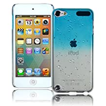 Bastex Heavy Duty Transparent Case - Baby Blue Raindrop Crystal Hard Back Case for Apple iPod Touch 5